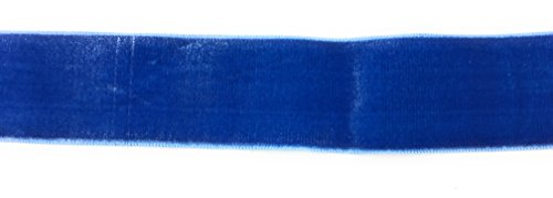- 1.5 '' Rayon Velvet -Electric Blue 5 Yards Velour Vintage Ribbon Made in France