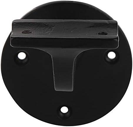 Adonai Hardware hierro envejecido, 2 unidades por paquete, revestimiento de polvo negro Soporte decorativo para pasamanos
