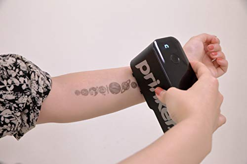 Prinker S Temporary Tattoo Device Package for Your Instant Custom Temporary Tattoos with Premium Cosmetic Black Ink - Compatible w/iOS & Android Devices (Black)
