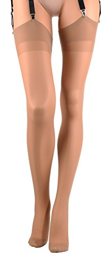 Trasparenze Sara All Sheer Stockings - Made in Italy (Fango, - Stocking Angels