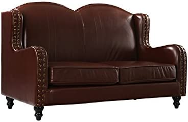 Divano Roma Furniture Leather Match Loveseat 2 Seater