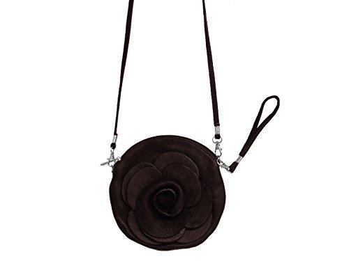 Scarlet Bijoux–Bolso de piel en diferentes colores 17x 17,7x 0,9cm (B X H X T) Marrón - marrón oscuro