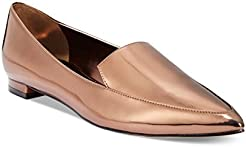Nine West Womens Abay Patent Pointed Toe Flat