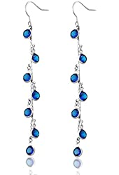 Neoglory Jewelry Teardrop Platinum Plated Made with Swarovski Element Crystal Drop Earrings