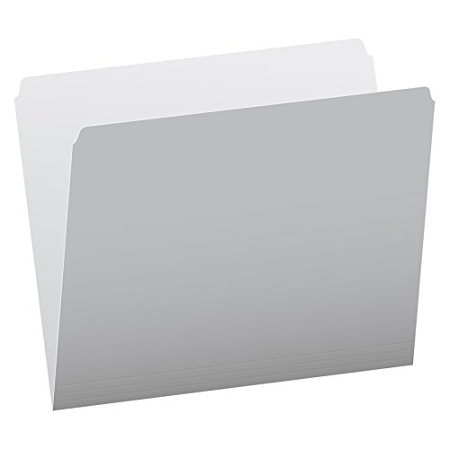 Pendaflex Two-Tone Color File Folders, Letter Size, Gray, Straight Cut, 100/BX (152 GRA)