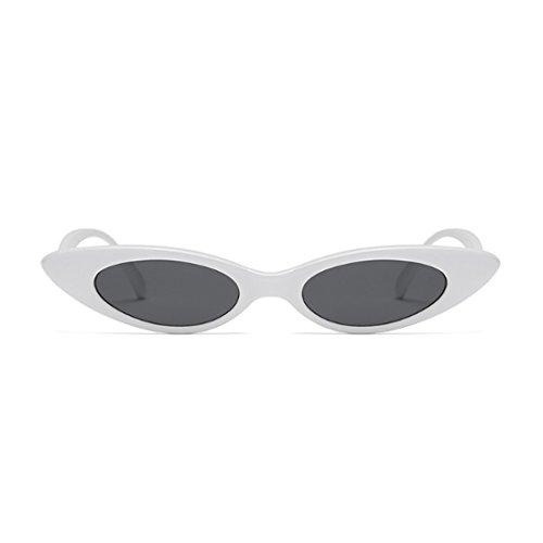 Fuyingda Blanca mujeres Gafas Hombres Caja Gris de y vintage sol pequeñas Negro Gafas sol Oval de Cat Designer rwrEZgFq