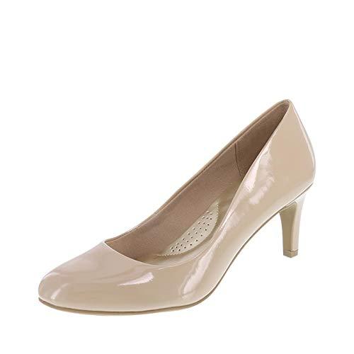 Sneaker Karma Womens - dexflex Comfort Nude Patent Women's Karma Round-Toe Pump 10 Wide