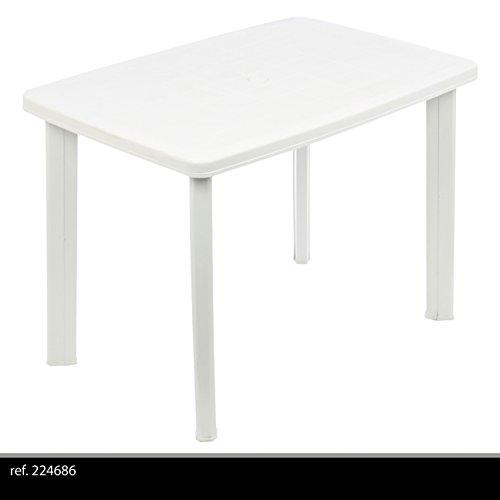 Tavolo In Plastica Bianco.Greemotion 431020 Tavolo Faretto Ovale Giardino Esterno In Plastica Bianco 101x68x72 Cm