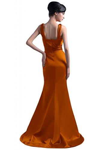 da V cinghie scollo sera con elegante Sunvary Spaghetti da per a cerimonia abiti Mother's Gowns per o Orange donna con fodero q8BExxYwP
