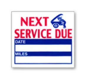 Service Due Static Sticker - 200 Count by NapTags - We're It!