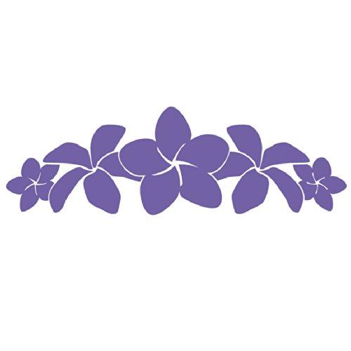 Plumeria Band Vinyl Sticker - Flower Lei Decal Hawaii Lavender