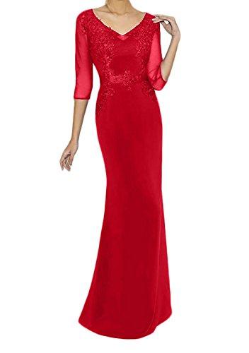 Royal Promkleider La Blau Rot Brautmutterkleider Bodenlang Marie Partykleider Abendkleider Braut Langarm PHWqw6aH7E