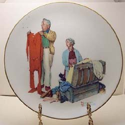 Rockwell Four - Norman Rockwell's Four Seasons Series-Tender Years Collectibe Plate (Set of 4)