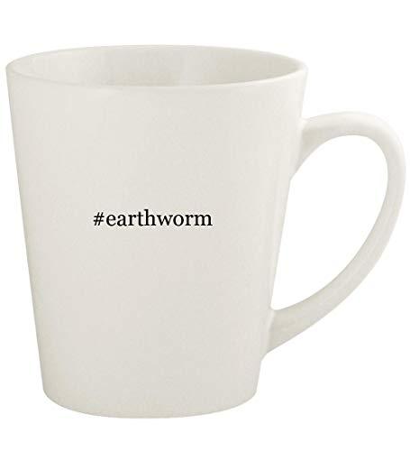 - #earthworm - 12oz Hashtag Ceramic Latte Coffee Mug Cup, White