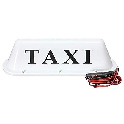 Cartel de taxi para techo de coche, 12 V, con base magnética ...