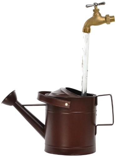 Universal Home and Garden SPR-13 Small Watering Can Fountain, Rust - Big Fountain