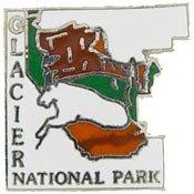 Metal Lapel Pin - USA National Parks - Glacier