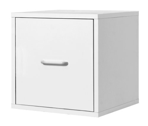 Best 390101 Modular File Cube Storage System, White