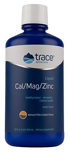 Liqumins Cal/Mag/Zinc Liquid Supplement, Natural Pina Colada Flavor, 32-Ounce Bottle