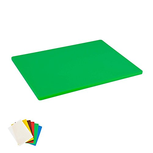 Plastic Cutting Board, Commercial Grade, 12-inch by 18-inch by 1/2-inch, Green by CuttingBoards