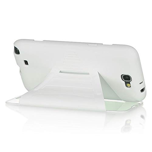 - Insten Rubberized Hard Snap-in Case Cover w/Screen Protector Compatible with Samsung Galaxy Note II, White