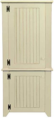 2 Piece Kitchen Pantry Cabinet Old Cream