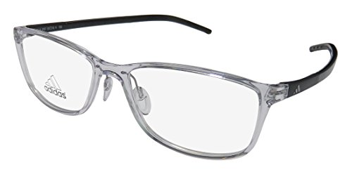 Adidas A693 Mens/Womens Designer Full-rim Eyeglasses/Eyewear (53-16-150, Crystal / Black)