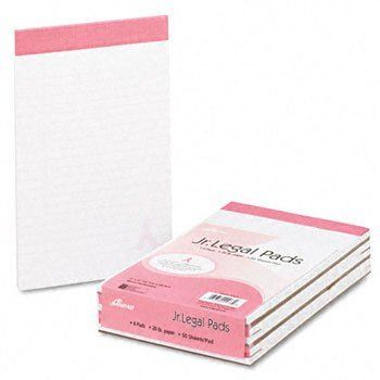 Ampad® Breast Cancer Awareness Writing Pads PAD,BRST CNCLR JR LGL 20# (Pack of8) by Ampad