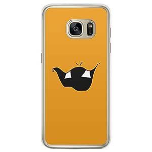 Loud Universe Samsung Galaxy S7 Edge Smileys 8 Printed Transparent Edge Case - Orange