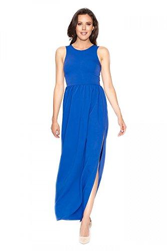 Vestido abierto Azul largo Clea real TwzdfTqv