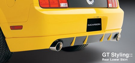 3dCarbon 691025 05-09 Ford Mustang GT Rear Bumper Lower Lip Valance ()