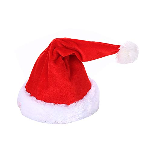 Fotica Musical Christmas Hat Dancing Singing Hat Christmas Santa Hat Toys for Kids Adults Party Battery Operated