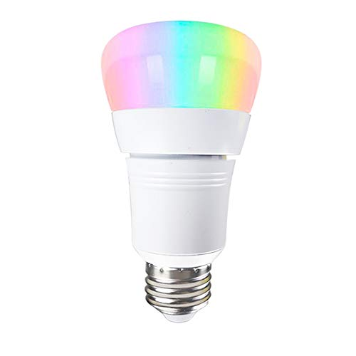 - KINDEEP Smart WiFi Light Bulb, A19 60W Equivalent(7W) Multicolored Dimmable E26/2E7 Base LED Bulbs, Smartphone Free APP Remote Control, Compatible with Amazon Alexa & Google Assistant