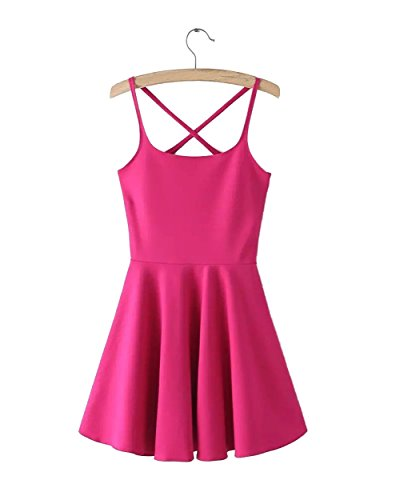 MorySong Women's Bodycon Backless Clubwear Party Evening Dress Sexy M Hot Pink (Sexy Western Dress)