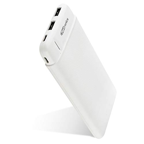 Portronics POR 1110 Power PRO 10K 10000mAh Power Bank with Dual Output Emergency Mobile Charger White