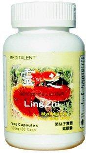 Meditalent - Ganoderma Lucidum (Lingzhi / Reishi) - 500mg - 60 Capsules (Reishi Zhi Ling)