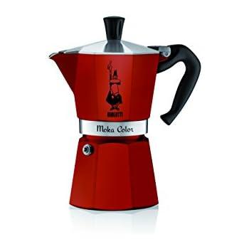 Bialetti 06905 6-Cup Espresso Coffee Maker, Red