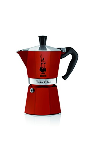 Bialetti Moka Color Espresso Coffee Maker (6 Cups, Bordeaux)