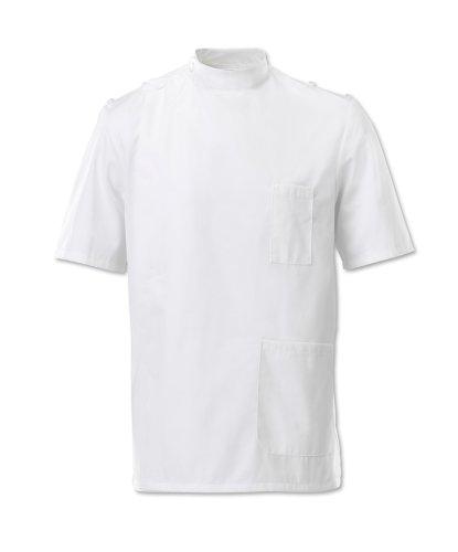 Alexandra Workwear Mens Mandarin Collar Epaulette Tunic White 46