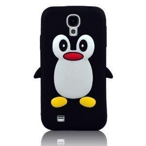 New Case for Samsung Galaxy Mini S4 i9190 Cute Penguin Silicone Soft Cover-Black(Gift Cartoon Sticker 2 PCS) (Samsung Galaxy S4 Mini Cute Case compare prices)