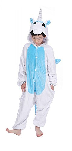AIMY Shop Funny Sleepwear Blue Unicorn OnePiece Cosplay Costumes Outfit Loungewear