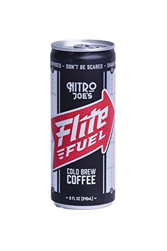 Flite Fuel, Nitro Cold Brew Coffee, 0 calories, Sugar Free, No Refrigeration Needed, 8.4oz cans avaliable in 6, 12, 18 packs