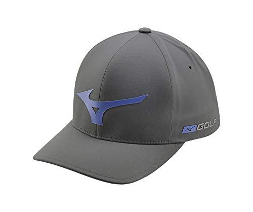 Mizuno Tour Delta Golf Hat, Grey-Royal, Large/X-Large (7 1/8