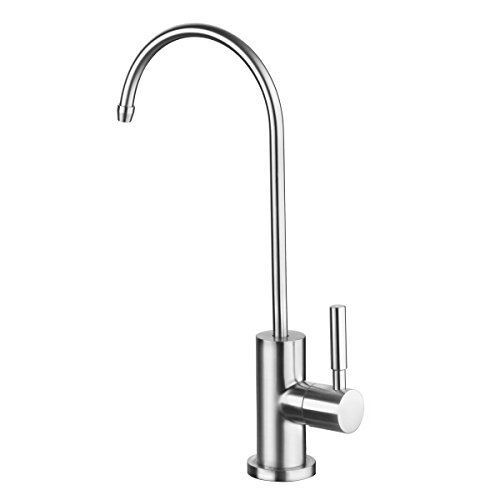 GAPPO Non-Air Gap Faucet Lead Free Brushed Nickel Kitchen Sink Drinking Water Filter Purifier RO Faucet, 304 Stainless Steel by GAPPO