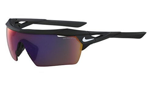 Nike EV1027-016 Hyperforce Elite R Sunglasses (Frame Green with ML Infrared Lens), Matte Black/White
