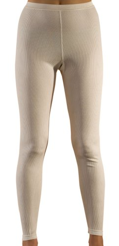 Hocosa Women's Long-Underwear Pants, Organic Wool-Silk, Natural White, s. 36/US 6