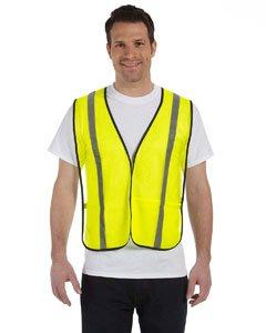 Occunomix LUX-SSLM2Z-L Premium Mesh Two-Tone Gloss Safety Vests, Large, (Lux Mesh Vest)