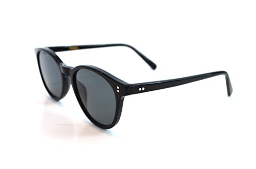 Rebel Optic Vintage Designer Sunglasses - Polarized Sunglasses for Men and Women - Retro Wayfarer Style Discount Sunglasses (Midnight, Black - Sunglasses Discount Designer