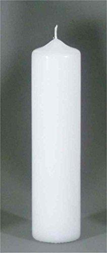 Stumpenkerze, Weiss für Taufe 25x 6 cm - 8618 - Kerzenrohling, Rundkerze 250x60 mm zum Basteln und Verzieren