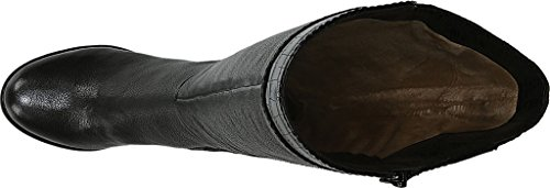 Naturalizer Femme Botte Haute Rozene Noire Cuir Ontario / Imprimé Croco